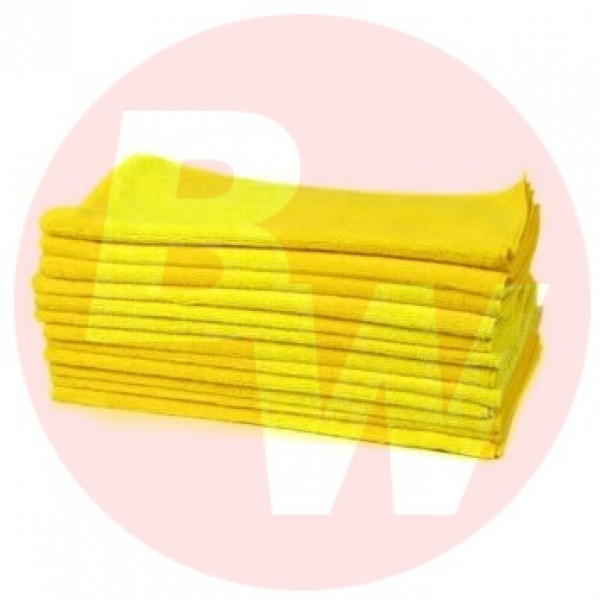 Amber - 16 x 16 Yellow - Micro Fibre Cloth 10/Pack
