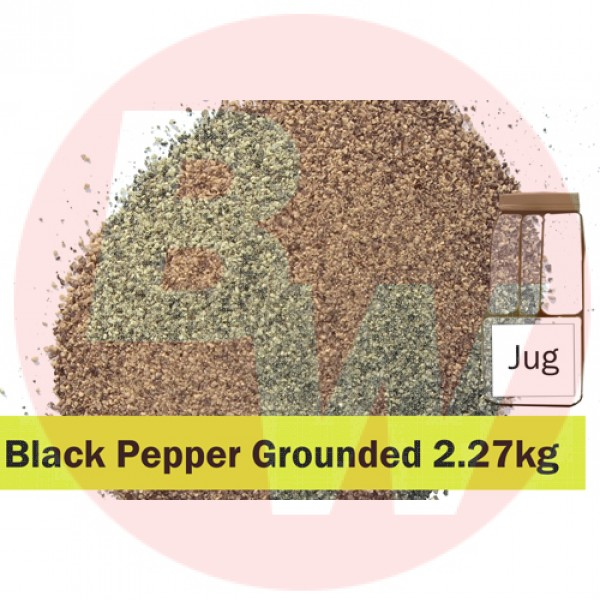 KOS Black Pepper Ground 2.27kg Jug