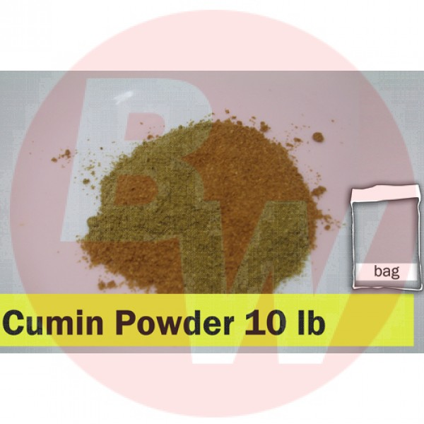 Cumin Powder 10lbs Clear Bag