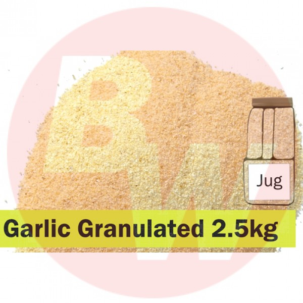 KOS Garlic Granulated 2.5kg Jug