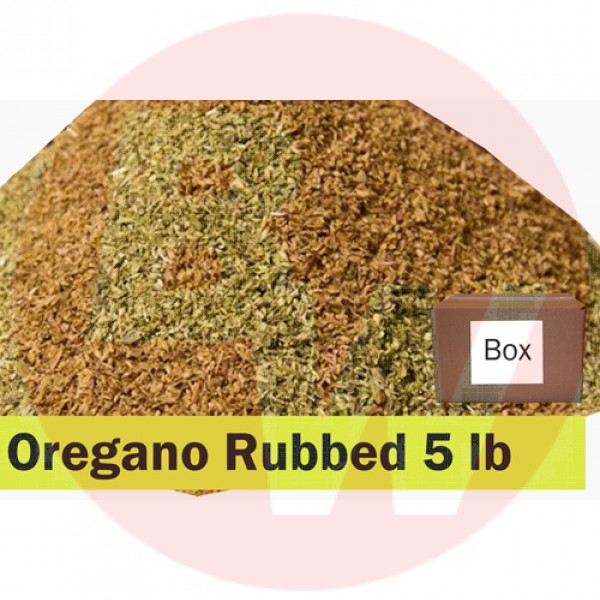 KOS Oregano Rubbed 5lb BOX