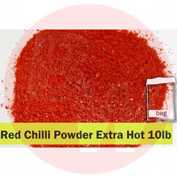 Red Chilli Powder Extra Hot 10lb Clear Bag