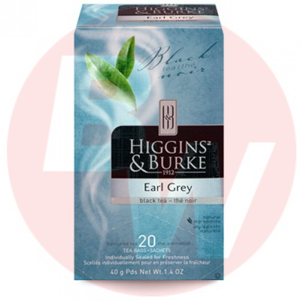 Higgins & Burke Tea Earl Grey 20's x 6