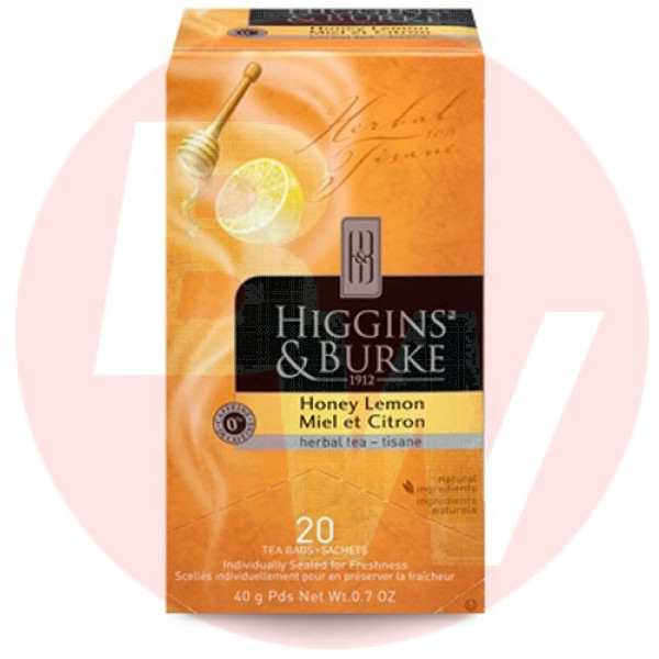 Higgins & Burke Herbal Tea Honey Lemon 20's x 6