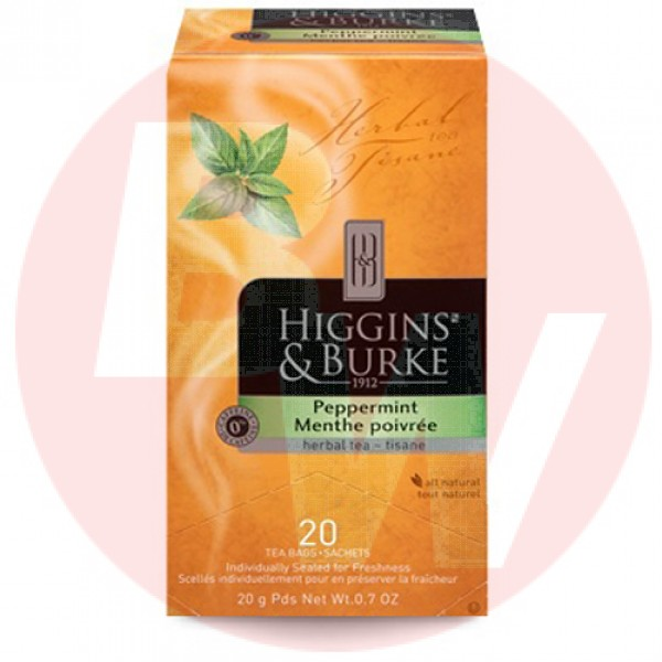 Higgins & Burke Herbal Tea Peppermint 20's x 6